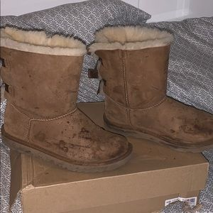 UGG Shoes - Chestnut Bailey Bow UGG boots
